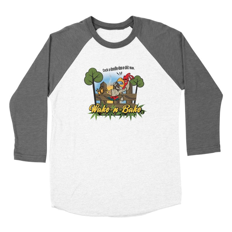 Wake-n-Bake Rooster Women's Baseball Triblend Longsleeve T-Shirt by The SeshHeadz's Artist Shop
