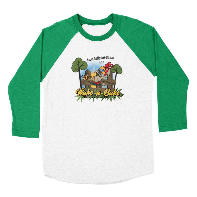 Wake-n-Bake Rooster Men's Longsleeve T-Shirt by The SeshHeadz's Artist Shop