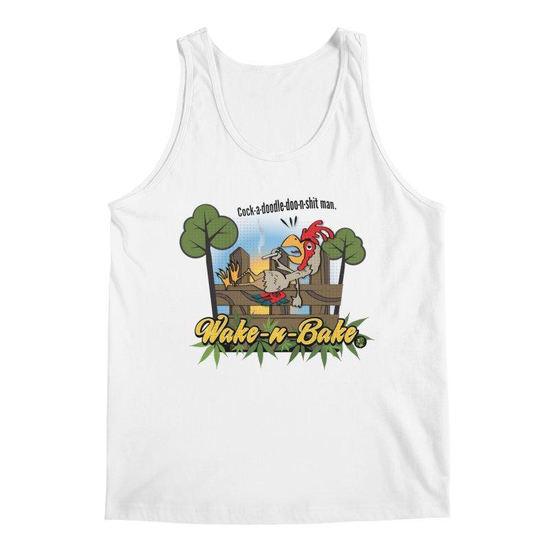 Wake-n-Bake Rooster Men's Regular Tank by The SeshHeadz's Artist Shop