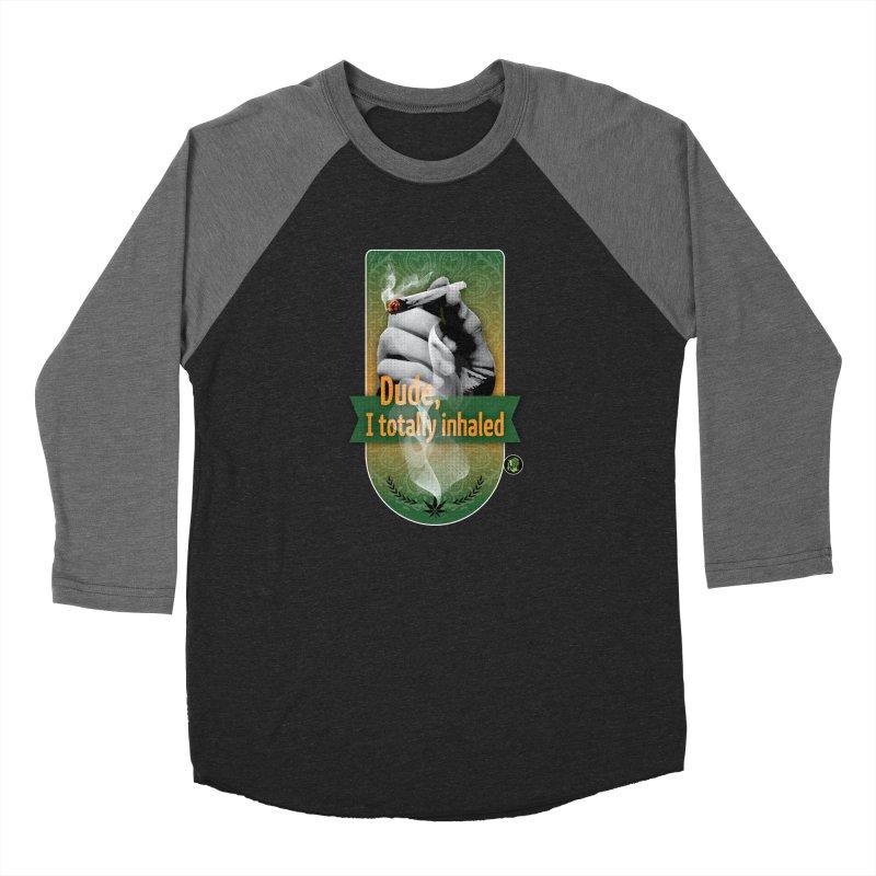 Dude, I totally inhaled Women's Baseball Triblend Longsleeve T-Shirt by The SeshHeadz's Artist Shop