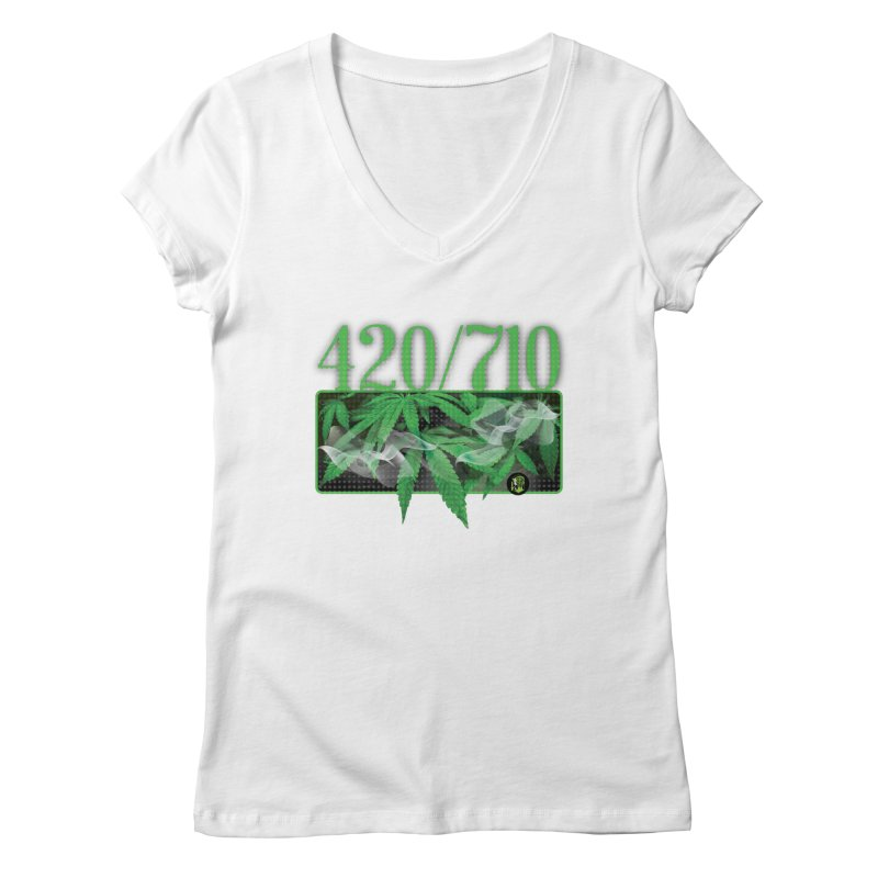 420/710 Women's Regular V-Neck by The SeshHeadz's Artist Shop