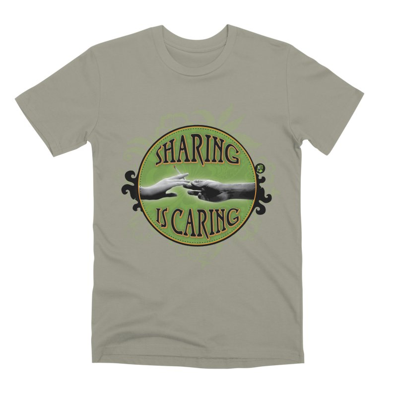 Sharing is Caring Men's Premium T-Shirt by The SeshHeadz's Artist Shop