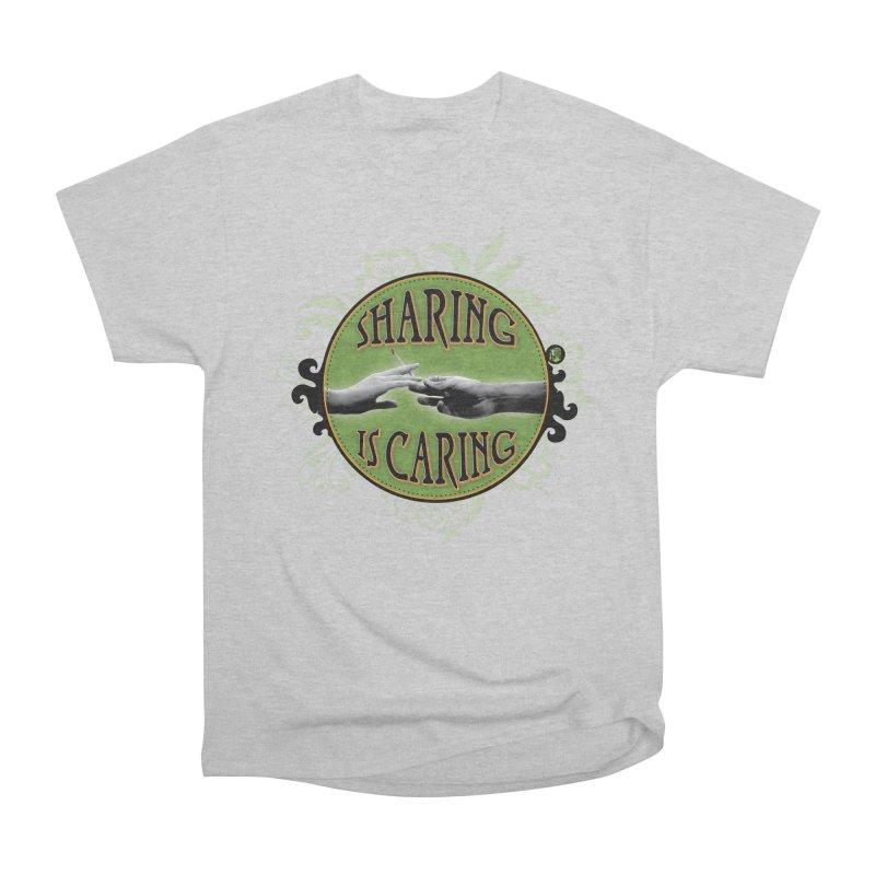 Sharing is Caring Men's Heavyweight T-Shirt by The SeshHeadz's Artist Shop