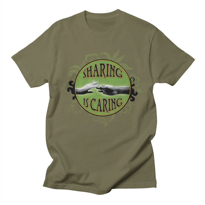 Sharing is Caring Women's Regular Unisex T-Shirt by The SeshHeadz's Artist Shop