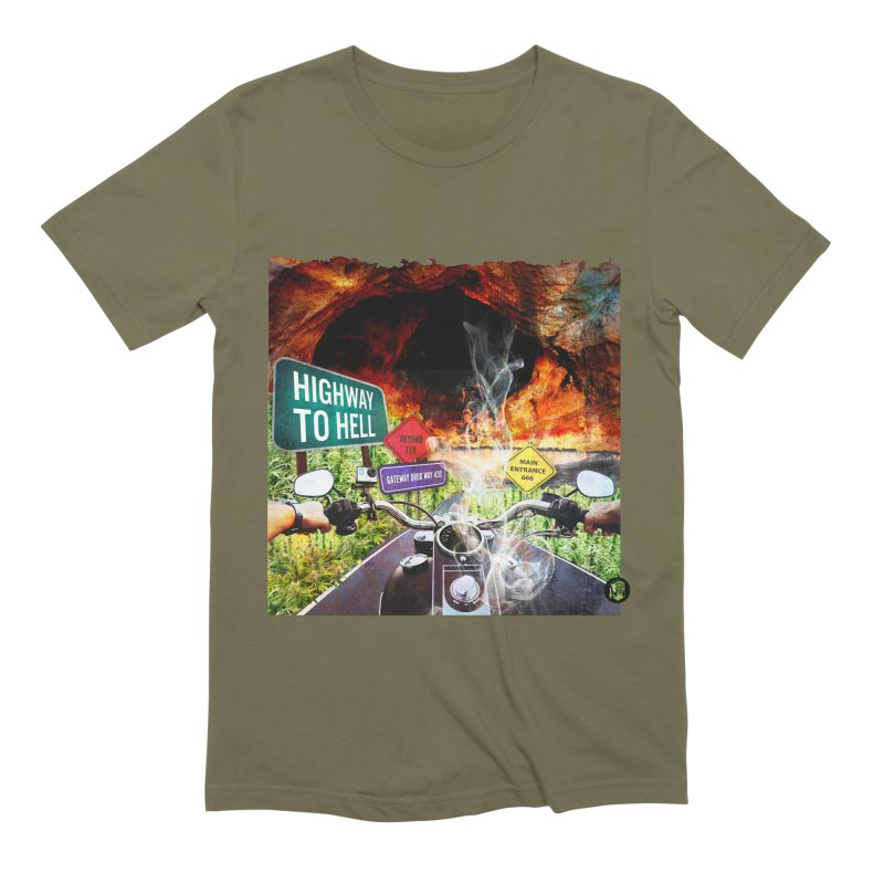 Highway to HELL Men's Extra Soft T-Shirt by The SeshHeadz's Artist Shop