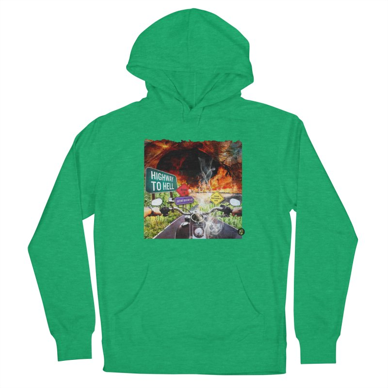 Highway to HELL Men's French Terry Pullover Hoody by The SeshHeadz's Artist Shop