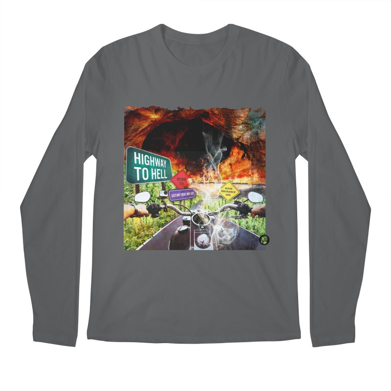 Highway to HELL Men's Regular Longsleeve T-Shirt by The SeshHeadz's Artist Shop