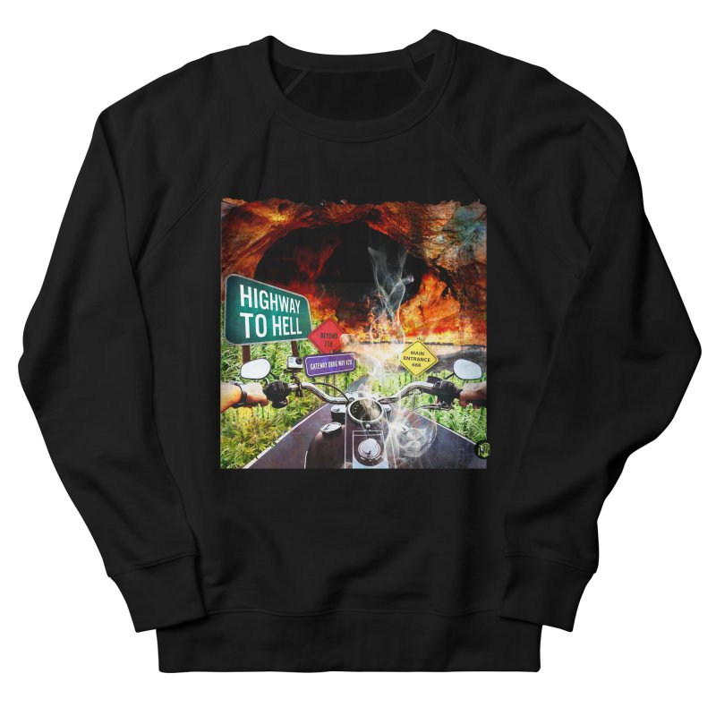 Highway to HELL Men's French Terry Sweatshirt by The SeshHeadz's Artist Shop