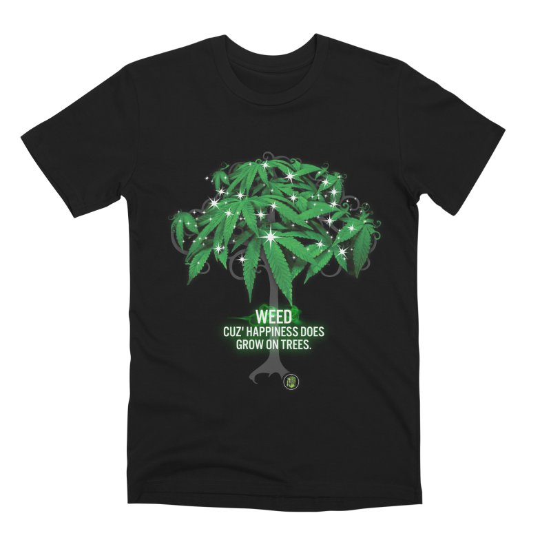 Cuz Happiness does grow on trees. Men's Premium T-Shirt by The SeshHeadz's Artist Shop