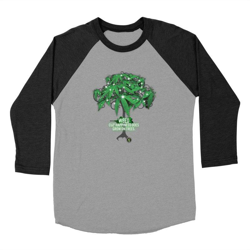 Cuz Happiness does grow on trees. Women's Baseball Triblend Longsleeve T-Shirt by The SeshHeadz's Artist Shop
