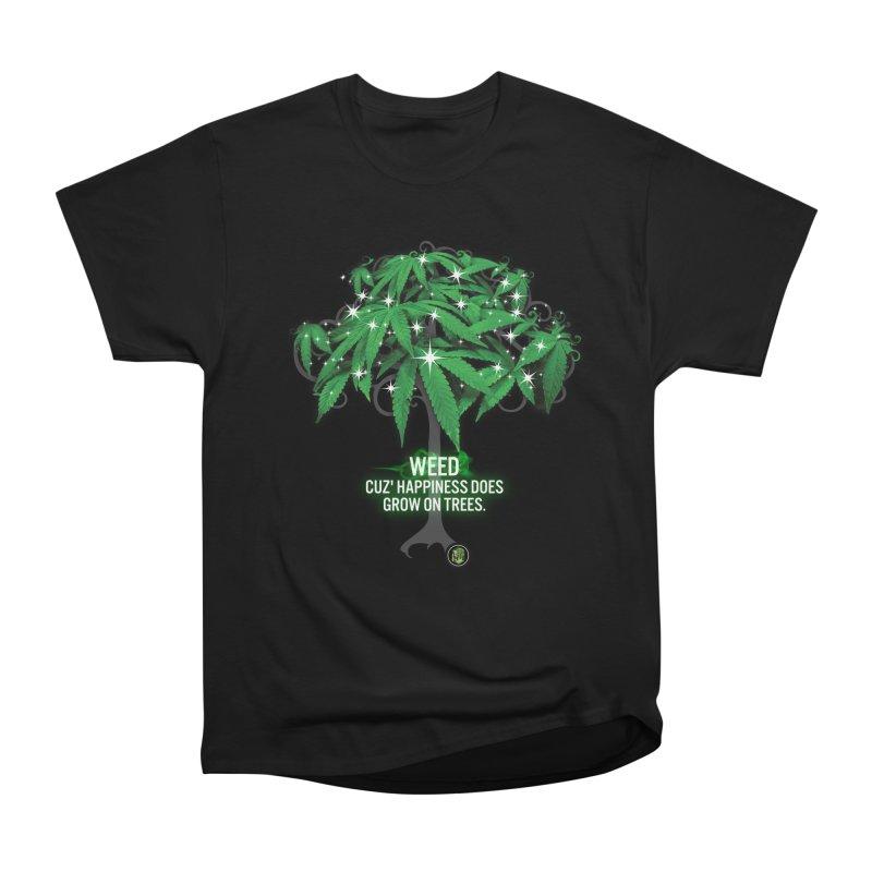 Cuz Happiness does grow on trees. Men's Heavyweight T-Shirt by The SeshHeadz's Artist Shop