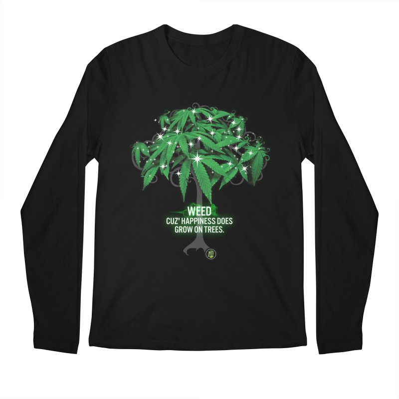 Cuz Happiness does grow on trees. Men's Regular Longsleeve T-Shirt by The SeshHeadz's Artist Shop