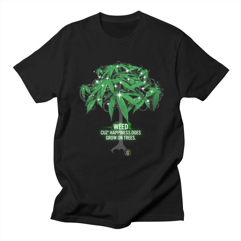 Cuz Happiness does grow on trees. Men's Regular T-Shirt by The SeshHeadz's Artist Shop