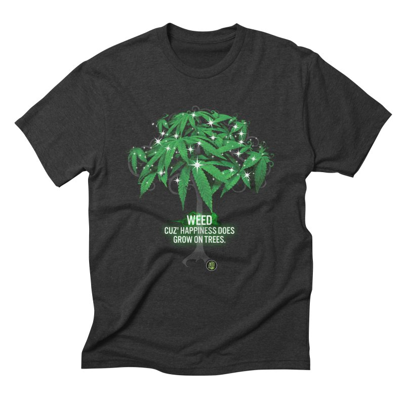 Cuz Happiness does grow on trees. Men's Triblend T-Shirt by The SeshHeadz's Artist Shop
