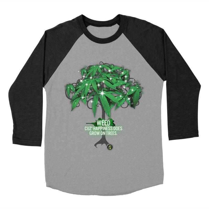 Cuz Happiness does grow on trees. Men's Baseball Triblend Longsleeve T-Shirt by The SeshHeadz's Artist Shop