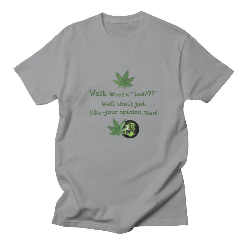 Wait. Weed is bad??? Men's Regular T-Shirt by The SeshHeadz's Artist Shop
