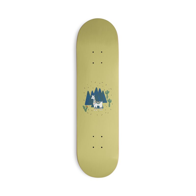 Llama Land Accessories Skateboard by TheSlumberingForest's Artist Shop