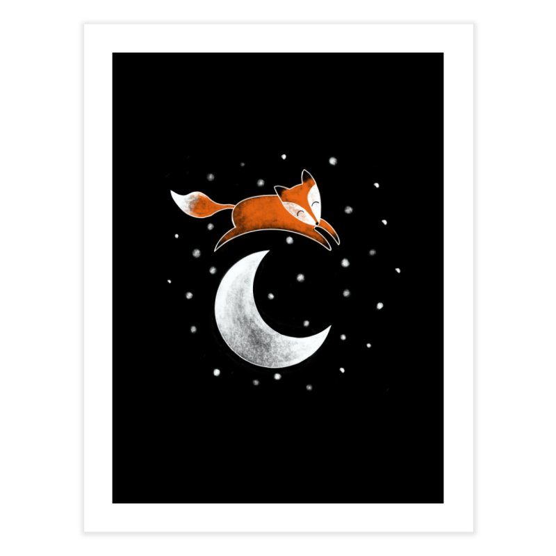 Fox Jumped Over the Moon Home Fine Art Print by TheSlumberingForest's Artist Shop