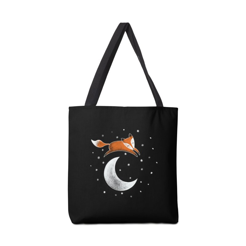 Fox Jumped Over the Moon Accessories Bag by TheSlumberingForest's Artist Shop