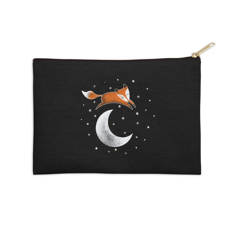 Fox Jumped Over the Moon Accessories Zip Pouch by TheSlumberingForest's Artist Shop