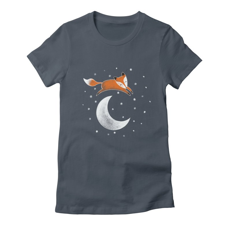 Over the moon Women's T-Shirt by TheSlumberingForest's Artist Shop
