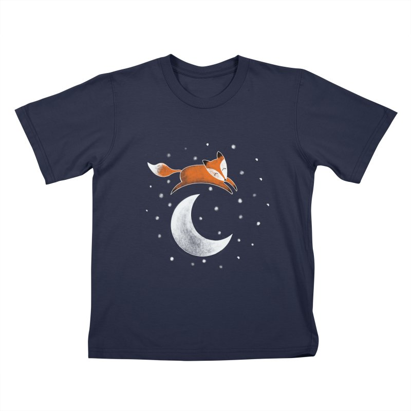 Over the moon Kids T-Shirt by TheSlumberingForest's Artist Shop