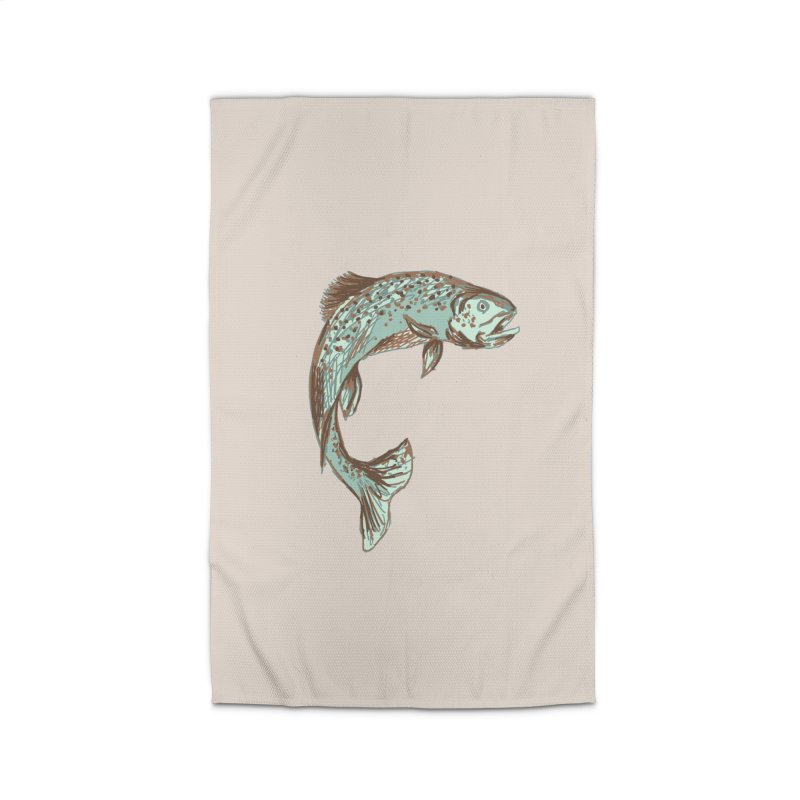 Trout Home Rug by TheSlumberingForest's Artist Shop