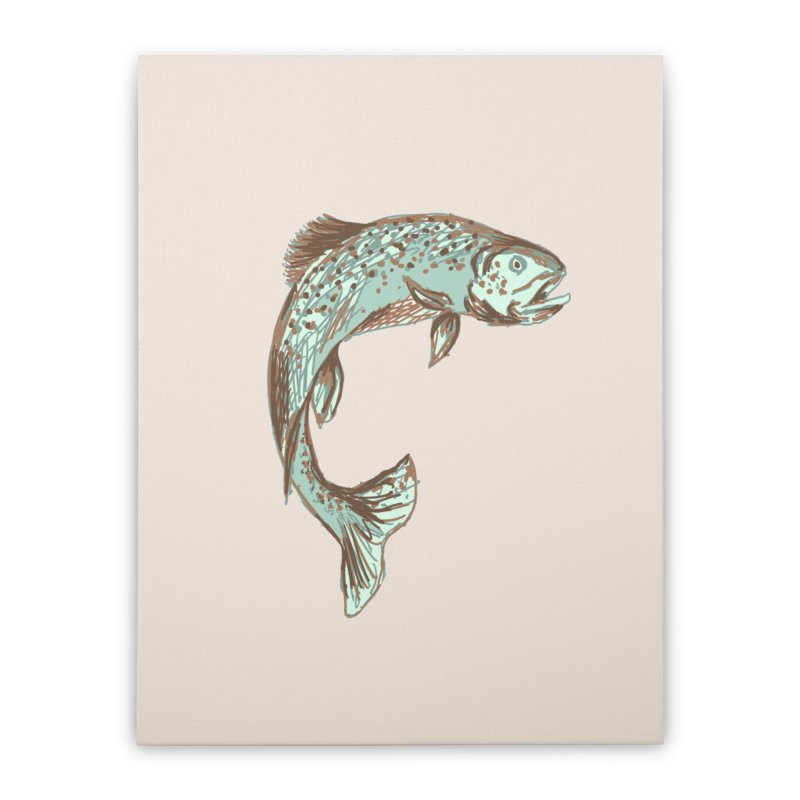 Trout Home Stretched Canvas by TheSlumberingForest's Artist Shop