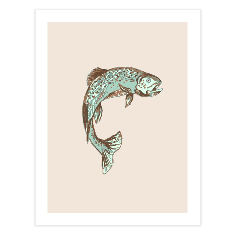 Trout Home Fine Art Print by TheSlumberingForest's Artist Shop