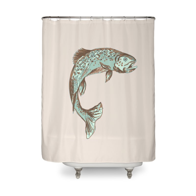Trout Home Shower Curtain by TheSlumberingForest's Artist Shop