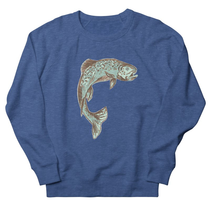 Trout out of water Men's Sweatshirt by TheSlumberingForest's Artist Shop