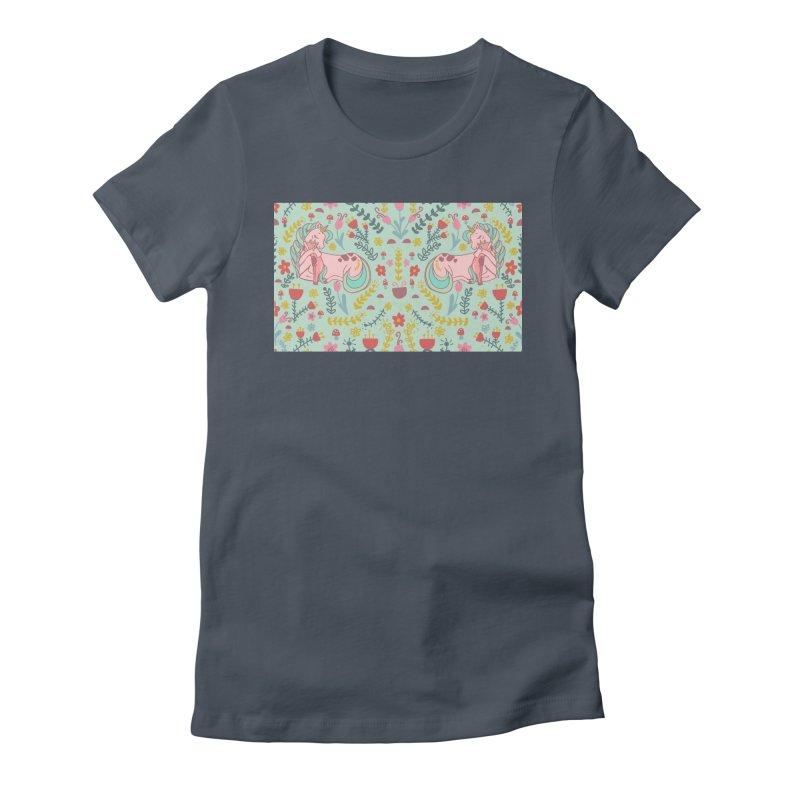 Motherhood is Magical in mint Women's T-Shirt by TheSlumberingForest's Artist Shop