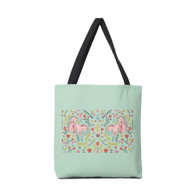 Motherhood is Magical in mint Accessories Bag by TheSlumberingForest's Artist Shop