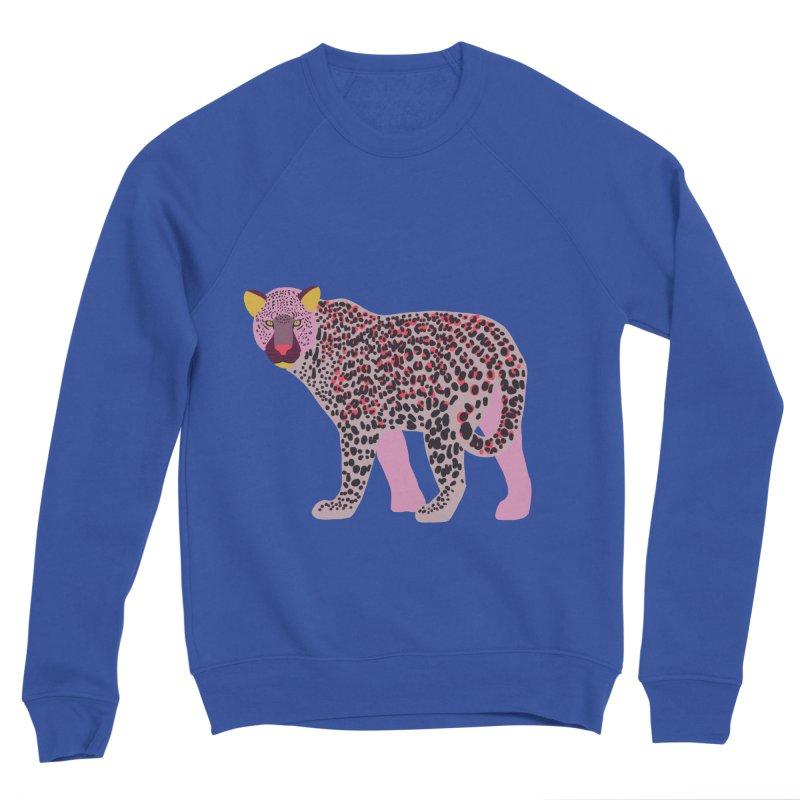 Pink Leopard Men's Sweatshirt by TheSlumberingForest's Artist Shop