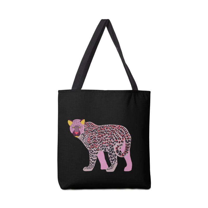 Pink Leopard Accessories Bag by TheSlumberingForest's Artist Shop