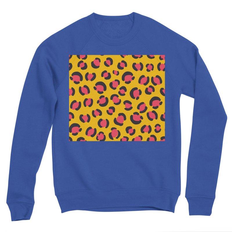Yellow Leopard Print Men's Sweatshirt by TheSlumberingForest's Artist Shop