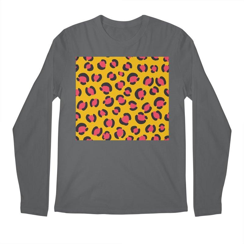 Yellow Leopard Print Men's Longsleeve T-Shirt by TheSlumberingForest's Artist Shop