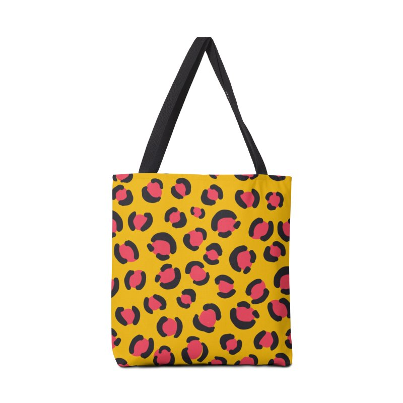 Yellow Leopard Print Accessories Bag by TheSlumberingForest's Artist Shop