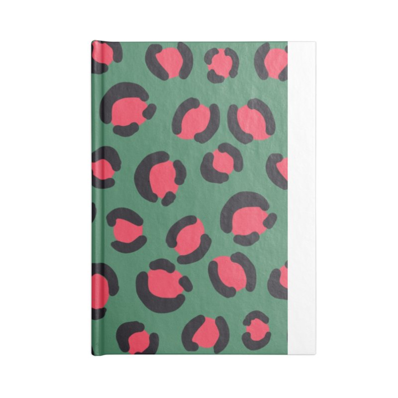 Green Leopard Print Accessories Notebook by TheSlumberingForest's Artist Shop