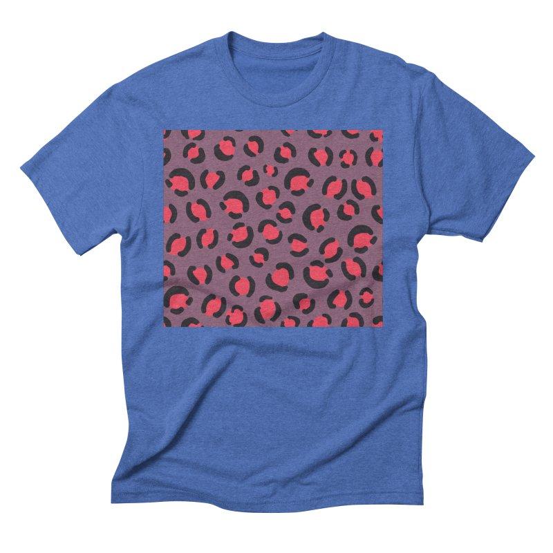 Lavender Leopard Print Men's T-Shirt by TheSlumberingForest's Artist Shop