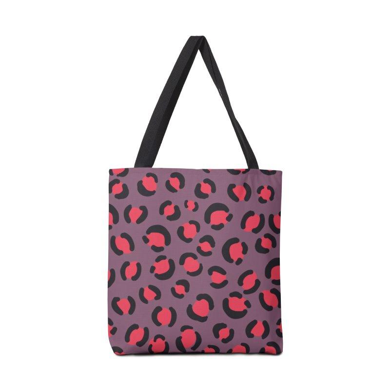 Lavender Leopard Print Accessories Bag by TheSlumberingForest's Artist Shop