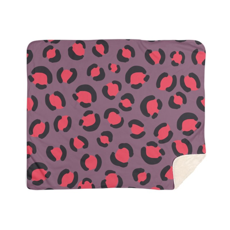 Lavender Leopard Print Home Blanket by TheSlumberingForest's Artist Shop