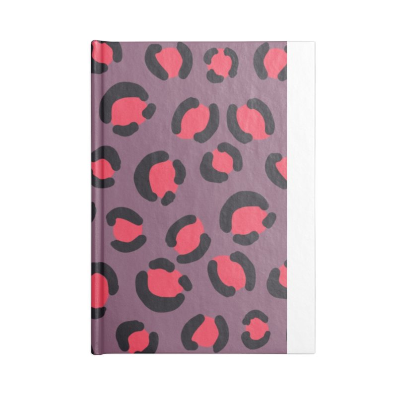 Lavender Leopard Print Accessories Notebook by TheSlumberingForest's Artist Shop