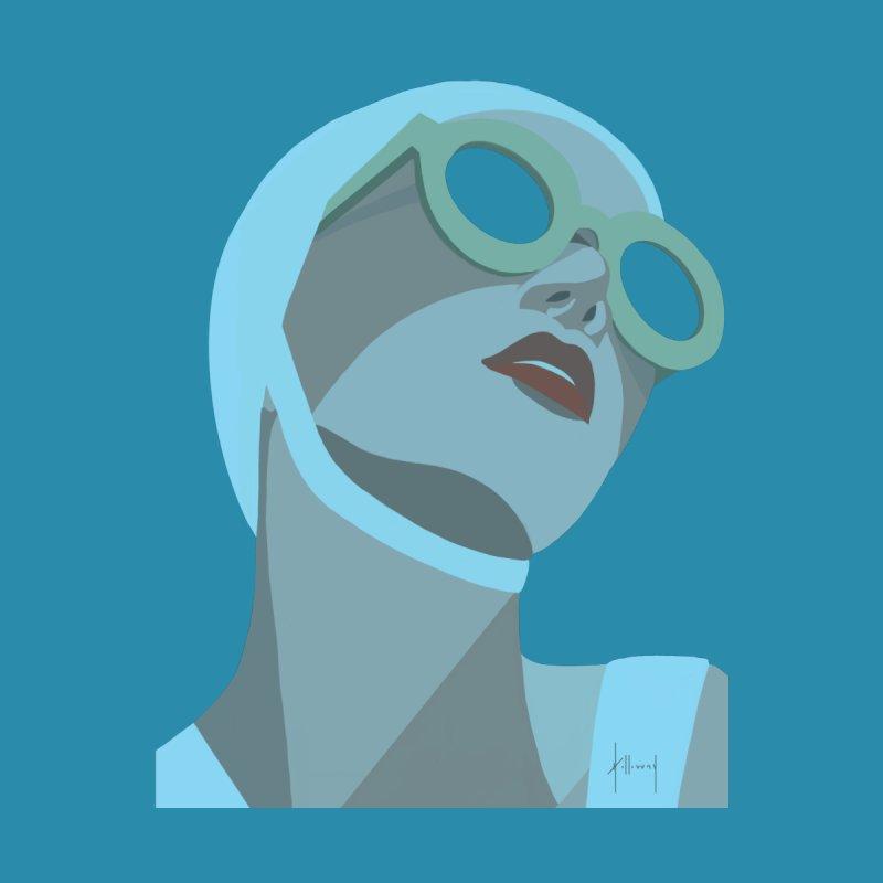Susan Holloway's Sunbather - Blue Men's T-Shirt by The Susan Holloway Artist Shop