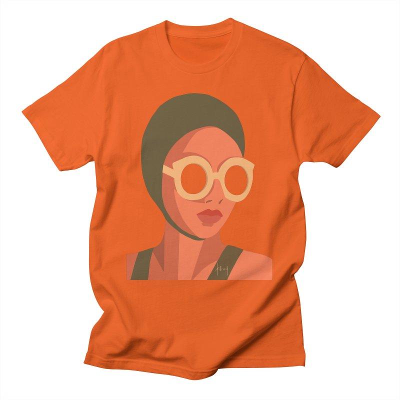 Susan Holloway's Sunbather - Orange Men's T-Shirt by The Susan Holloway Artist Shop