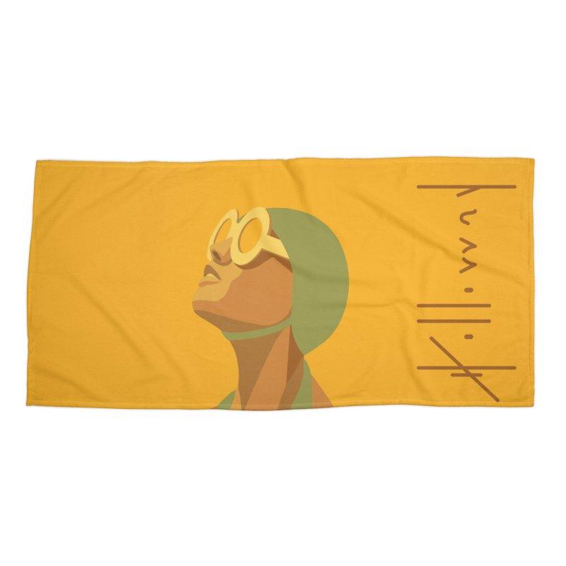Susan Holloway's Sunbather - Beach Towel - Yellow Accessories Beach Towel by The Susan Holloway Artist Shop