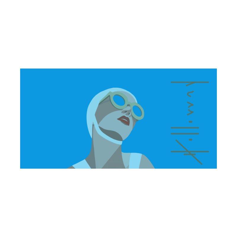 Susan Holloway's Sunbather - Beach Towel - Blue Accessories Beach Towel by The Susan Holloway Artist Shop