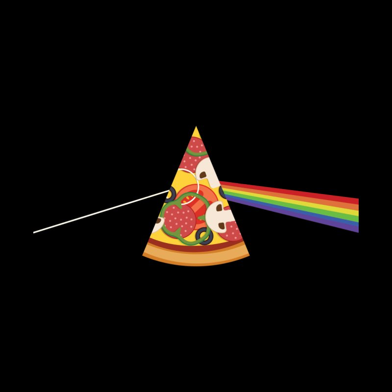 Dark Side of the Pizza Men's T-Shirt by Tigrr Tees