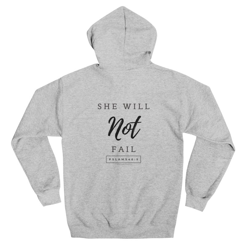 God is Within Her (Black Letters) Women's Zip-Up Hoody by Living Virtuous Boutique