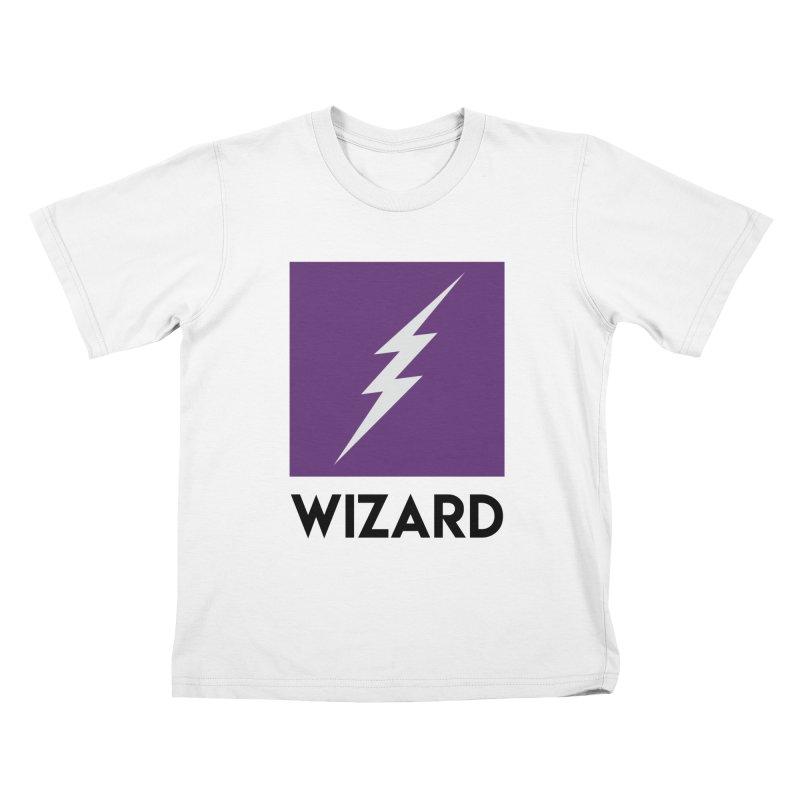 Wizard Multimedia Logo Kids T-Shirt by TheWizardWardrobe's Artist Shop